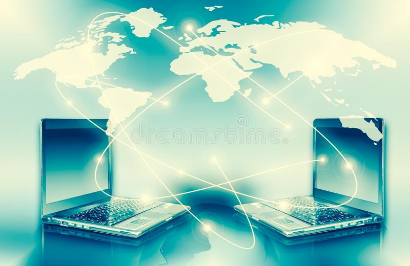 Best Internet Concept of global business from concepts series. Computer mobility, internet communication and cloud stock images