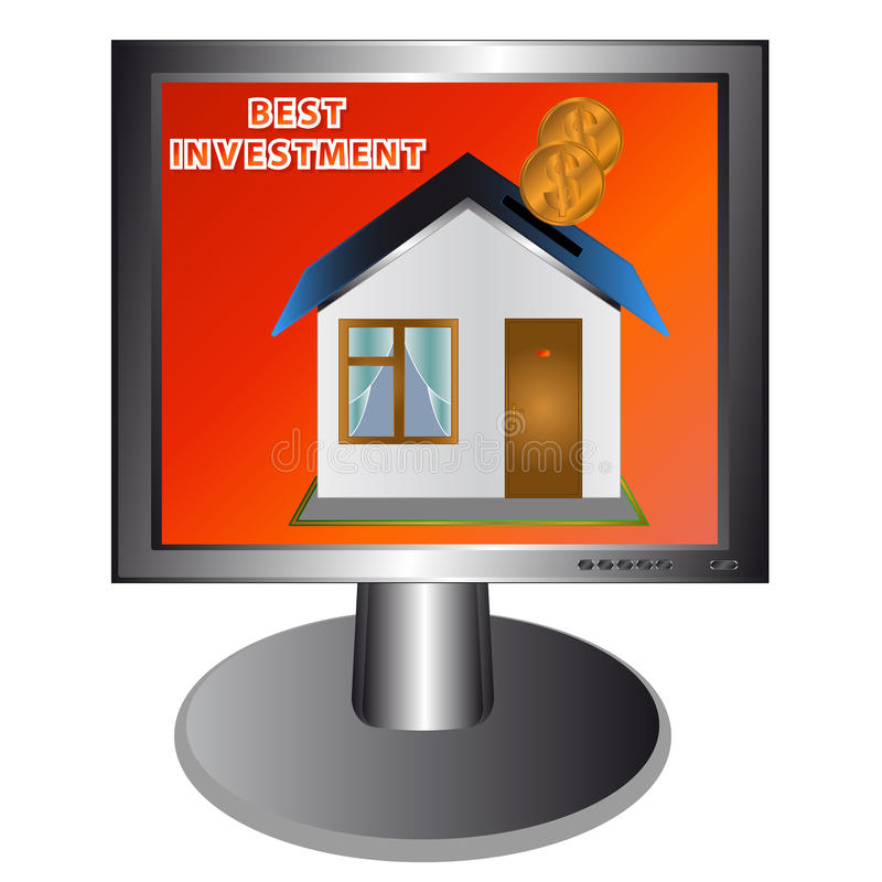 Download Best investment stock vector. Image of building, monitor - 24898891