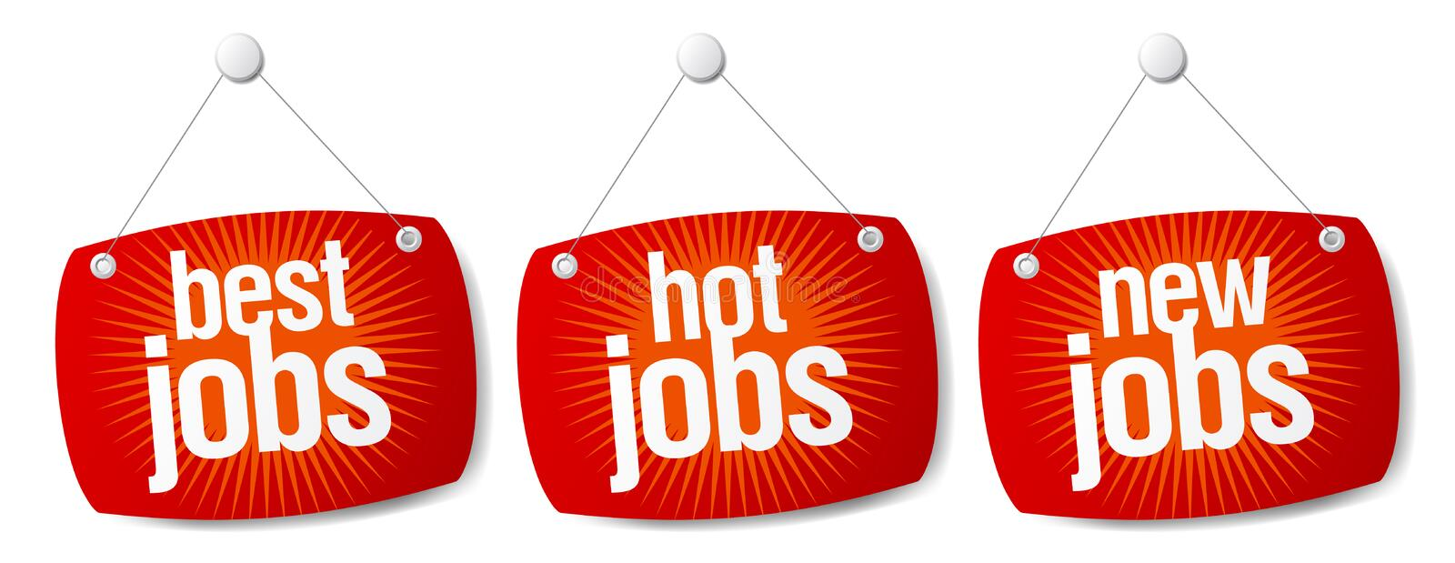 Best jobs signs stock illustration