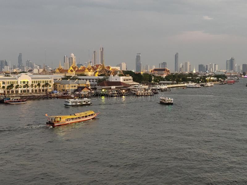The best landscape view of Chao Phraya river stock photo