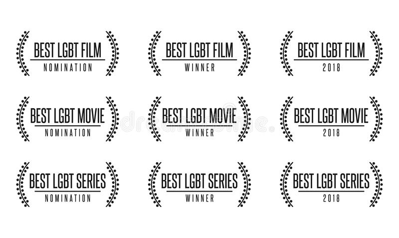 Best lgbt movie film series nomiation award royalty free illustration