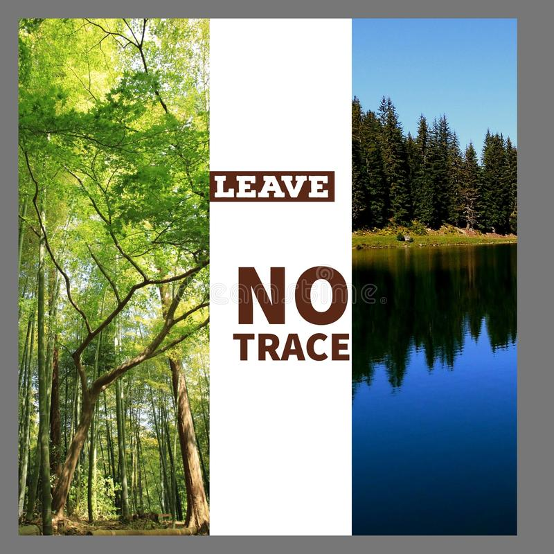 Leave no trace vector illustration