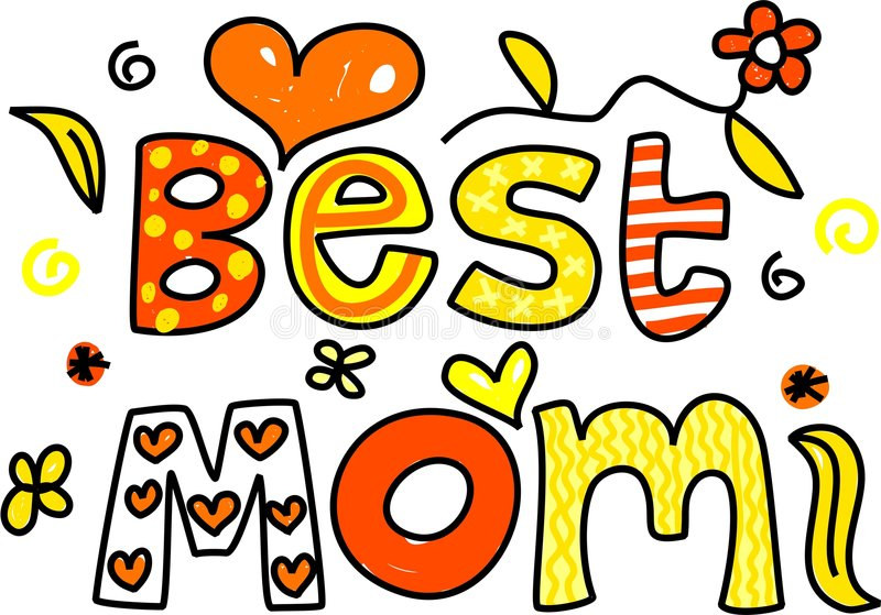 Best mom. Decorative ornamental whimsical text saying Best Mom