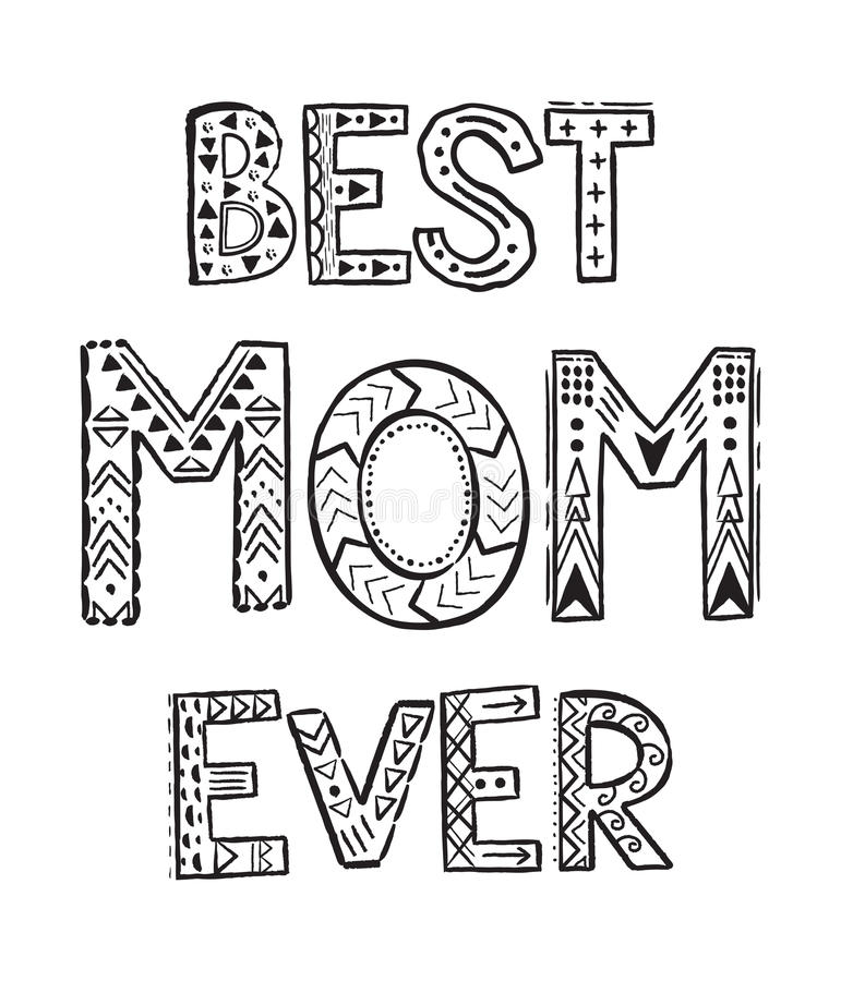 Superb Download Best Mom Ever Stock Vector. Illustration Of Doodle, Decorative    90008691