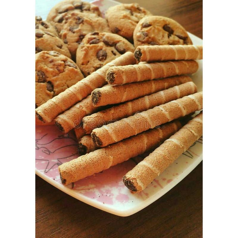 Cookies. The best morning begins with delicious cookies& x29;& x29 royalty free stock images