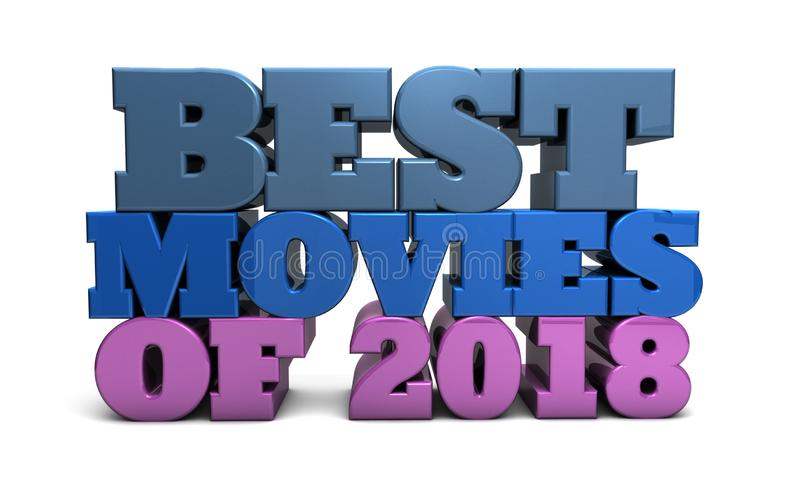 Best Movies of 2018 - awards and recommendations royalty free illustration