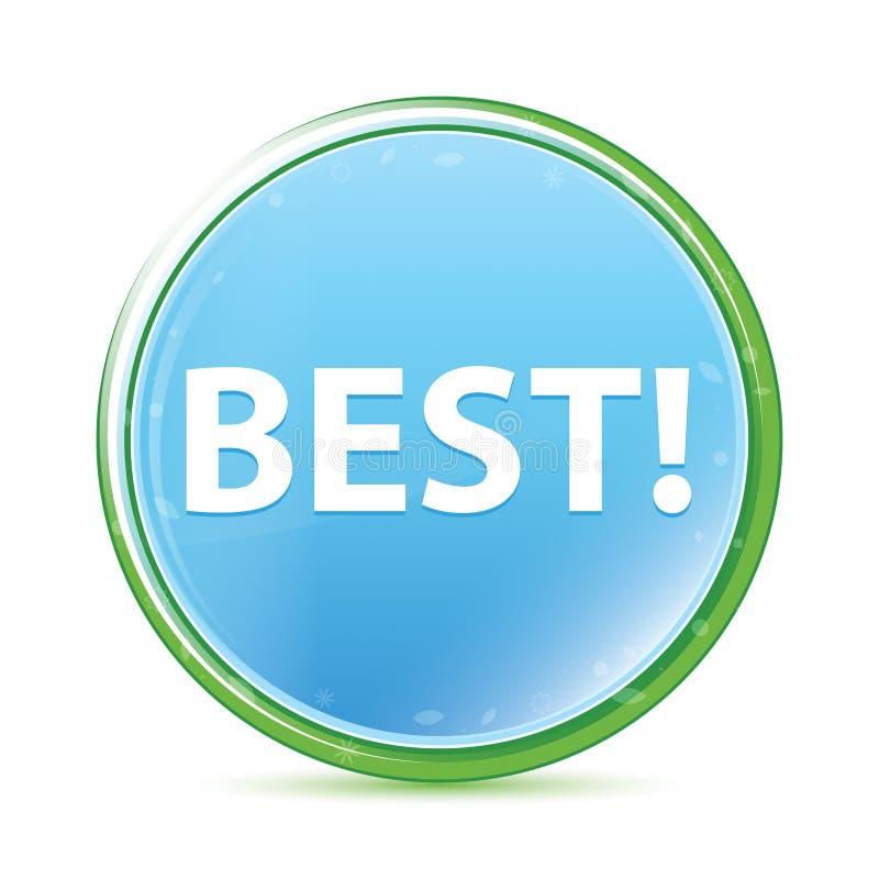 Best! natuurlijke aqua cyaan blauwe ronde knoop stock illustratie