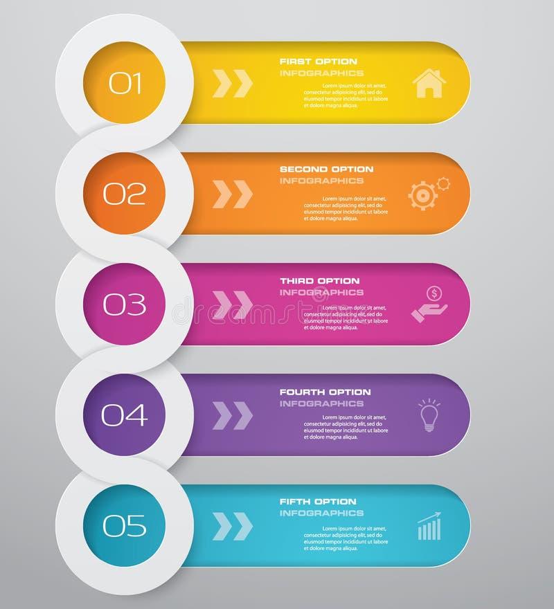 best?ndsdel f?r Timeline f?r 5 moment infographic 10 eps royaltyfri illustrationer