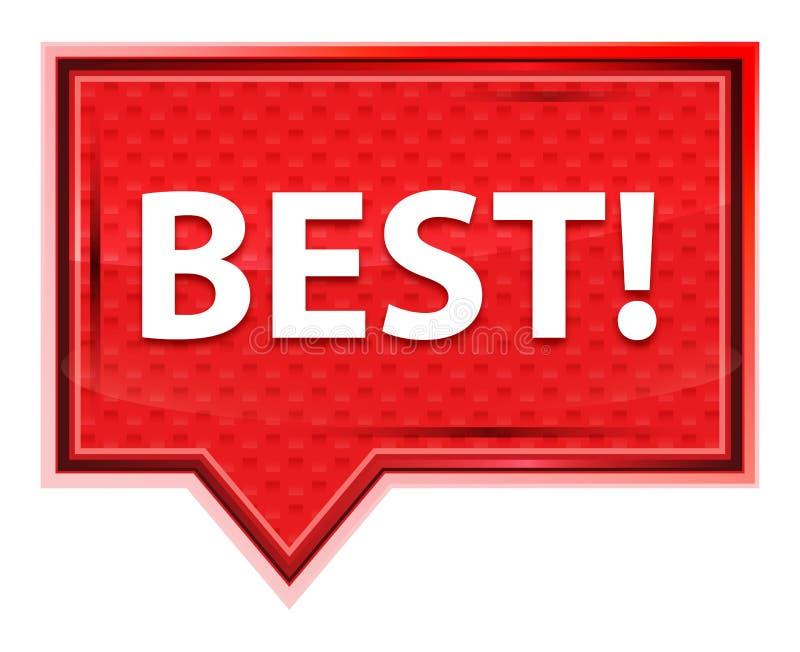 Best! nevelig nam roze bannerknoop toe vector illustratie