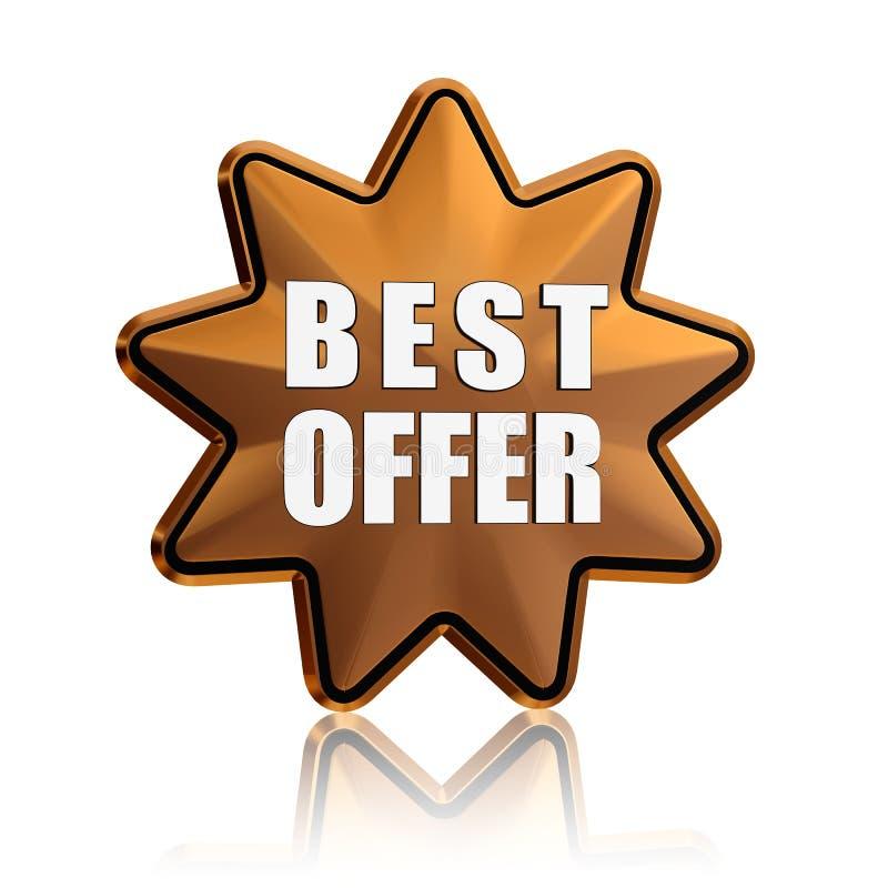Download Best offer in golden star stock illustration. Image of market - 28588537