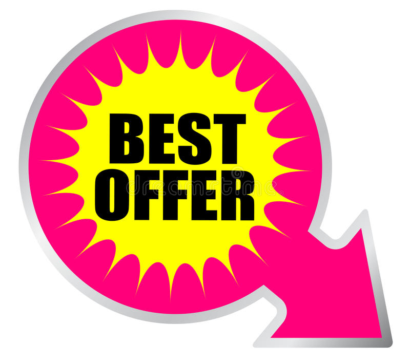 Best offer icon stock illustration