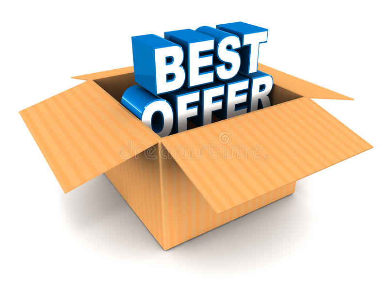 Download Best offer out of the box stock illustration. Image of words - 28681445