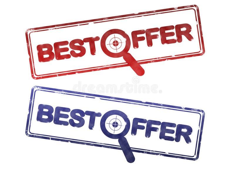 Download Best offer stamp stock illustration. Illustration of blue - 10244724
