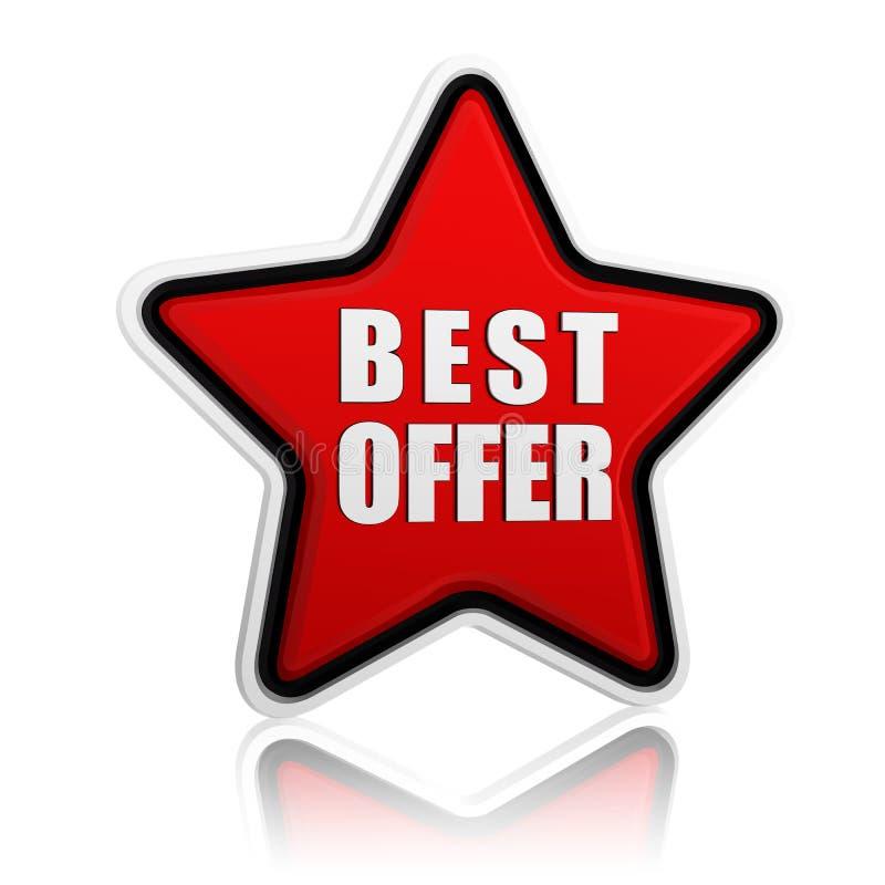 Download Best offer star button stock illustration. Illustration of offer - 27850180