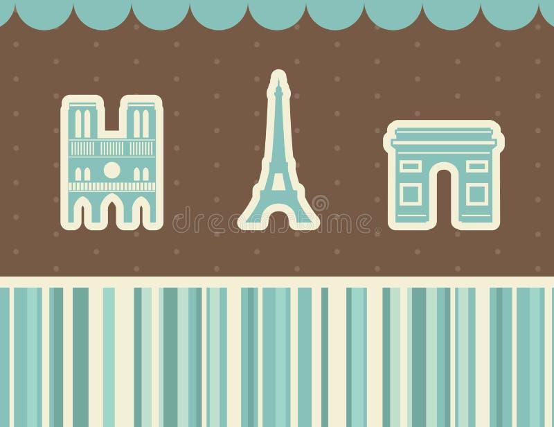 Best Paris Sights. Vector Illustration. Stock Image