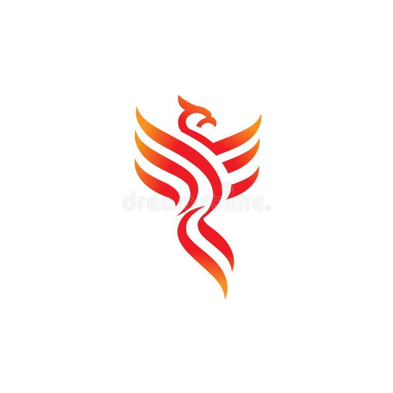 Best phoenix logo concept. Luxury phoenix consulting element logo icon concept royalty free illustration
