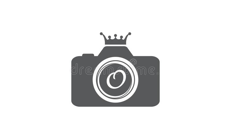 Best Photography Service Letter O. Logo Design Template Vector royalty free illustration