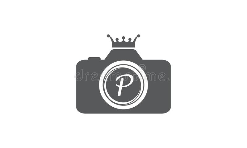 Best Photography Service Letter P. Logo Design Template Vector royalty free illustration