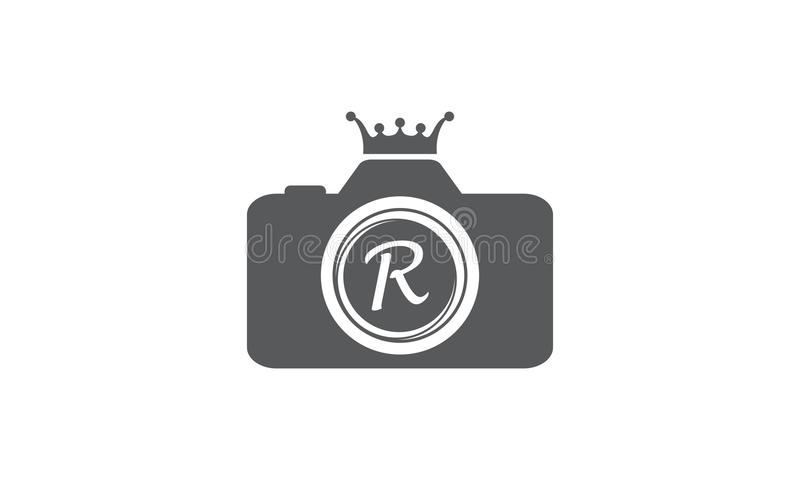 Best Photography Service Letter R. Logo Design Template Vector royalty free illustration