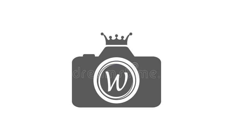 Best Photography Service Letter W. Logo Design Template Vector stock illustration