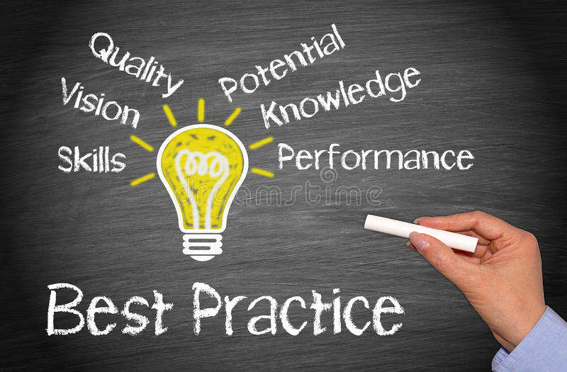 Best Practice Business Concept royalty free stock photos