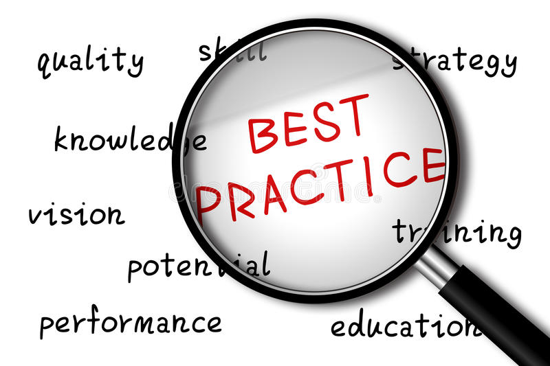 Best Practice. Concept with ball pen on white background royalty free illustration