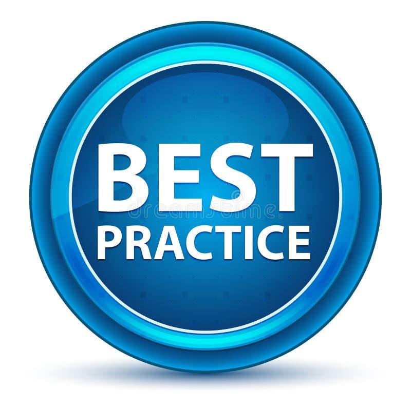 Best Practice Eyeball Blue Round Button. Best Practice Isolated on Eyeball Blue Round Button royalty free illustration