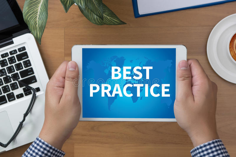 BEST PRACTICE stock image