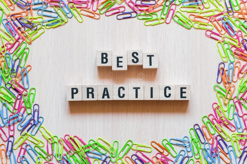 Best Practice words concept stock photos