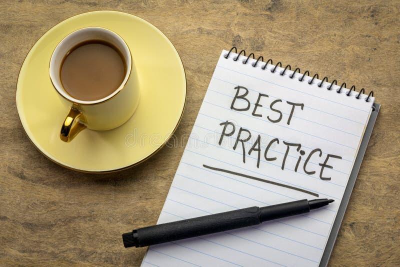 Best practicehandschrift royalty-vrije stock afbeeldingen