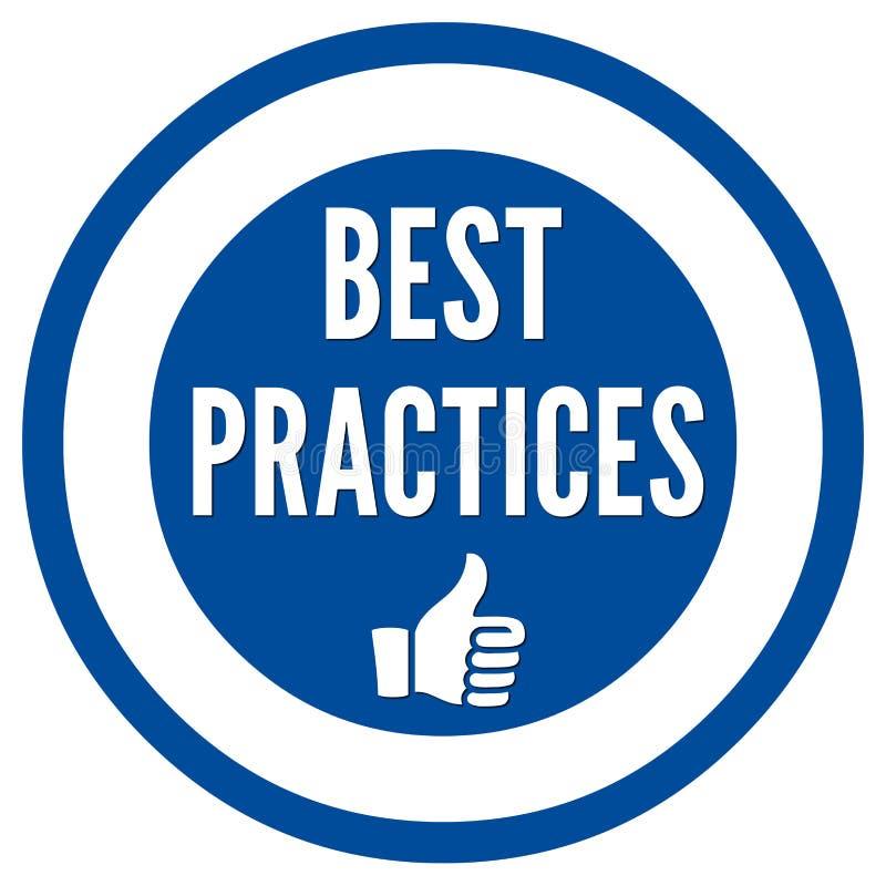 Best practices sign. Best practices blue sign illustration stock illustration