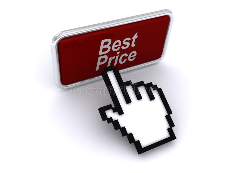 Best price button and cursor
