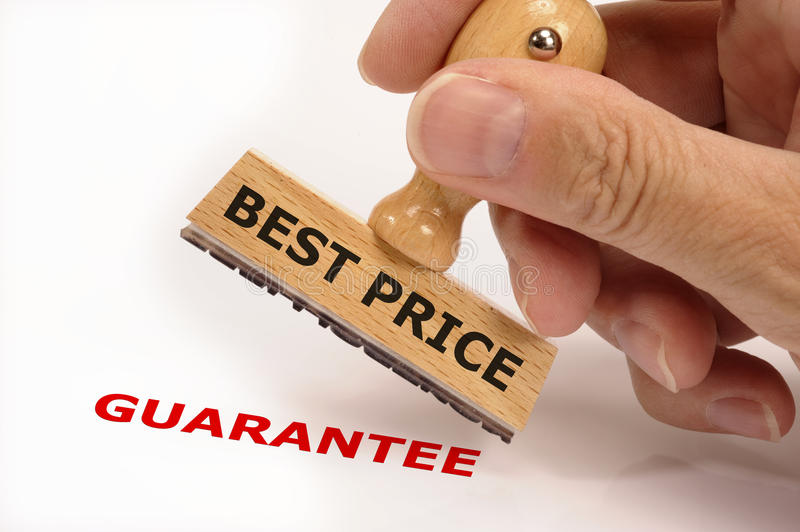 Best price guarantee royalty free stock photography