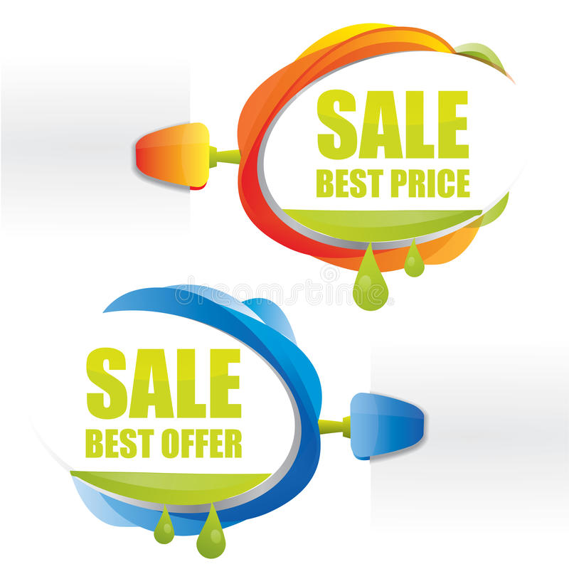 Download Best Price Promotional Attachable Sign Stock Vector - Illustration: 23085099