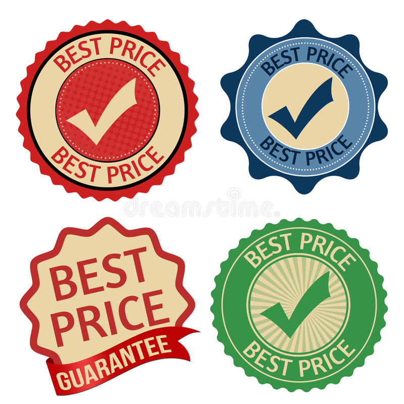 Download best price promotional label sticker or stamps stock vector illustration of seller