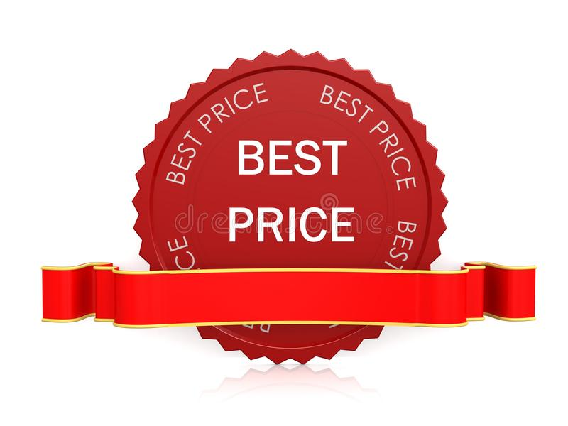Best price seal with ribbon stock illustration
