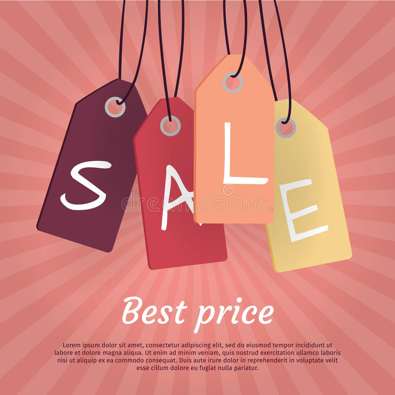 Best Price. Set of Sale Tags with Word Sale. vector illustration
