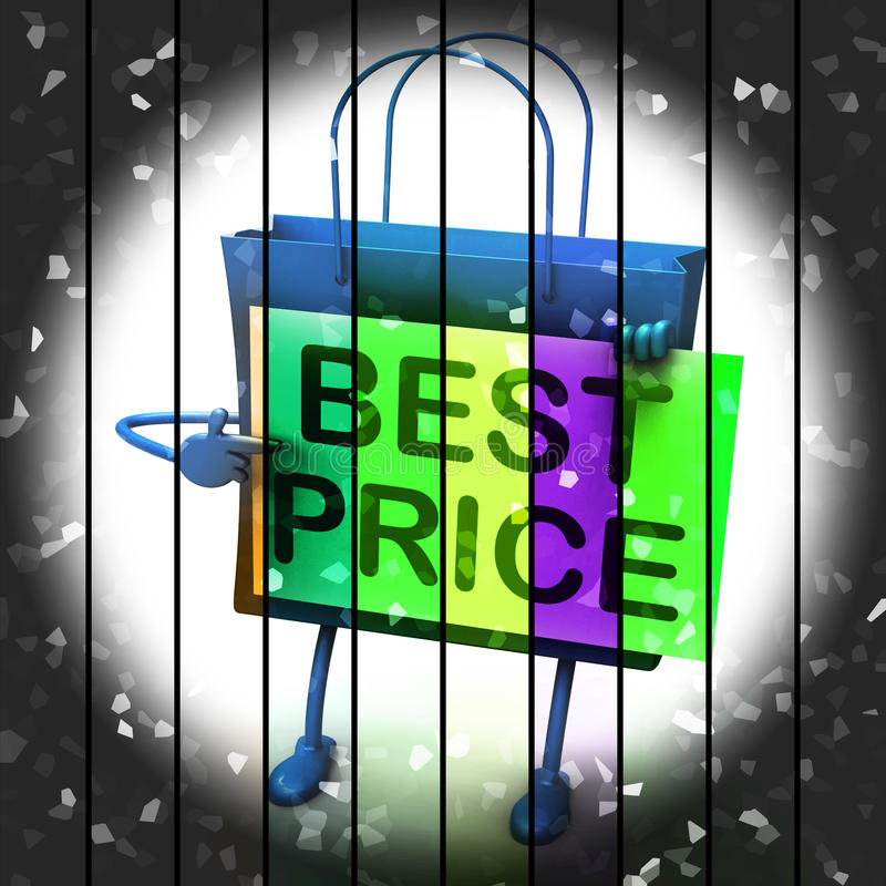 Best Price Shopping Bag Represents Bargains and Discounts. Best Price Shopping Bag Representing Bargains and Discounts vector illustration