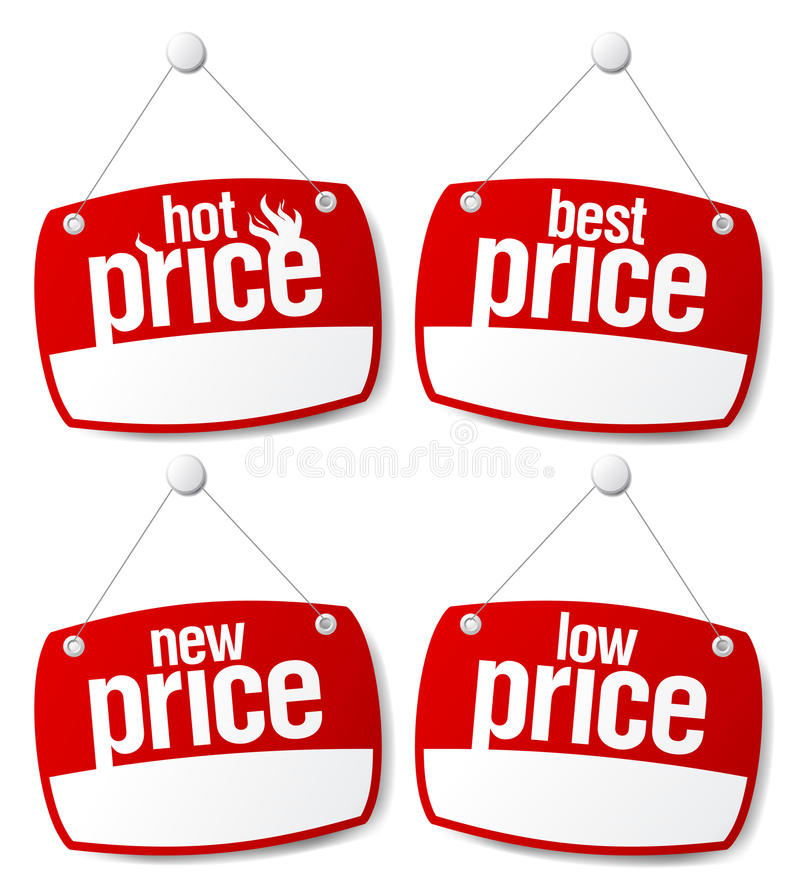 Best Price Signs Stock Vector Illustration Of Board
