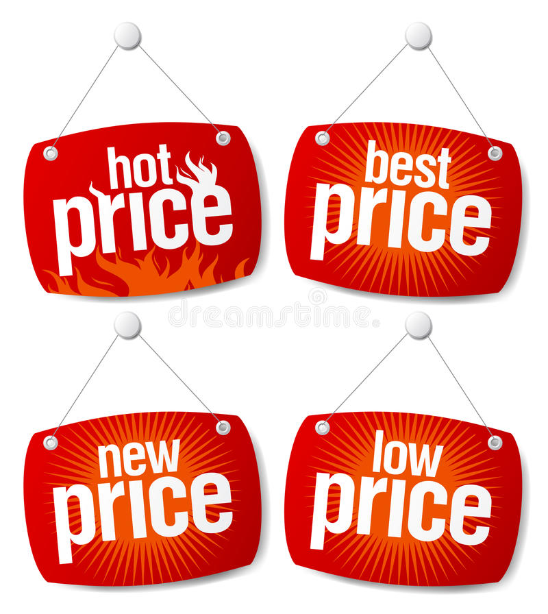 Best price signs. New best price signs set