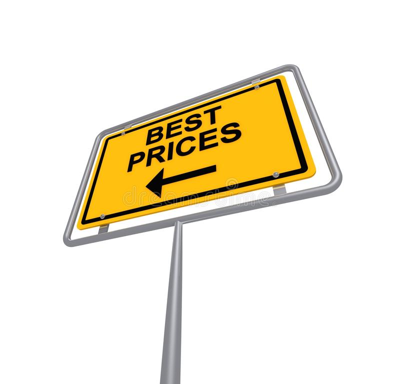 Best prices sign royalty free stock photo