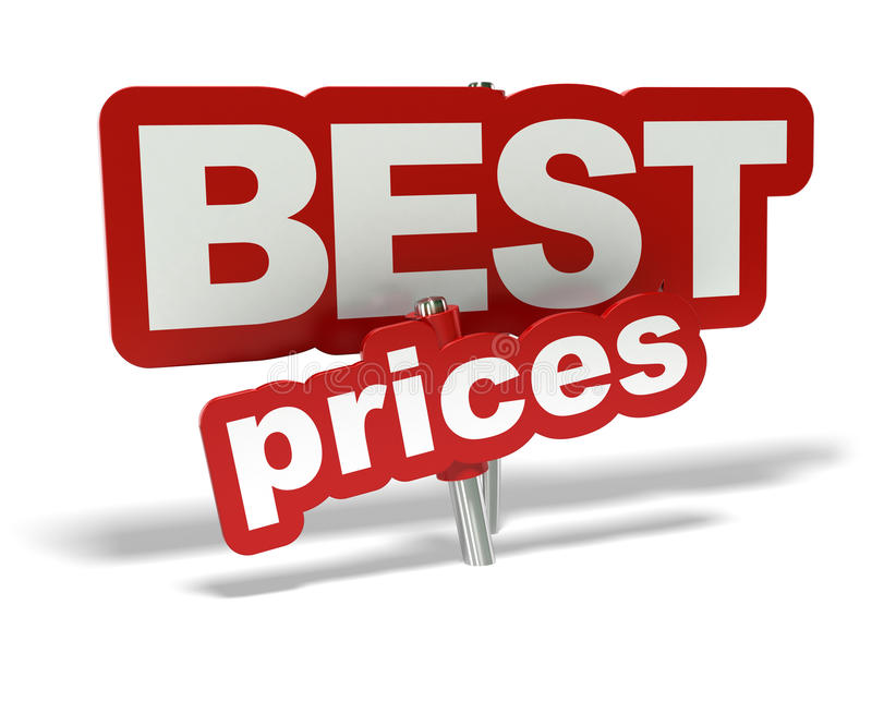 Best prices tag royalty free illustration