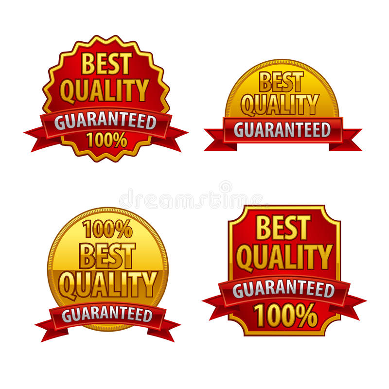 Download Best quality labels stock illustration. Image of guarantee - 40003321