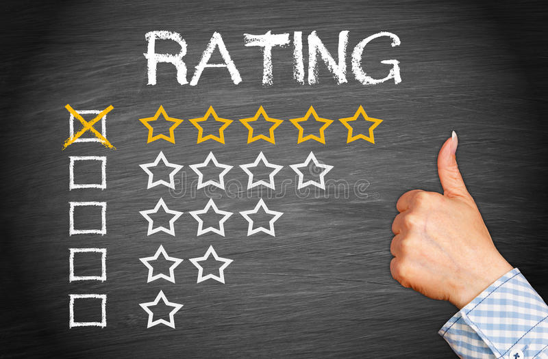 Best rating five stars royalty free stock photography