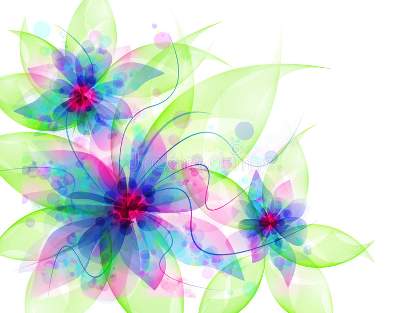 Best Romantic Flower Background. Delicate flowers, light curls, ribbons, veils in blue royalty free illustration
