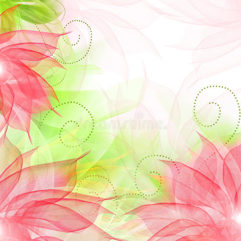 Best Romantic Flower Background. Delicate flowers, light curls, ribbons, veils in pink royalty free illustration