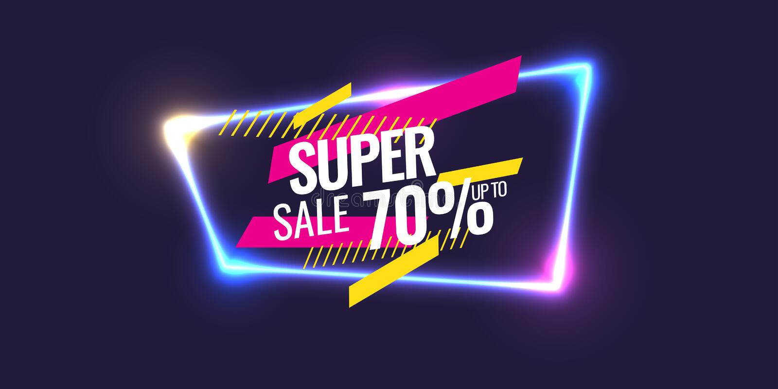 Download Best Sale Banner. Original Poster For Discount. Geometric Shapes And Neon Glow Against A Dark Background. Stock Vector - Illustration of modern, graphic: 109834916
