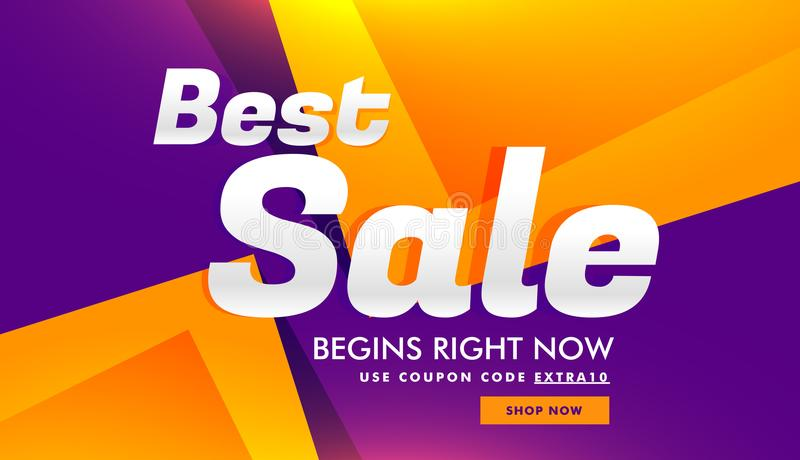 best sale discount and advertising banner voucher template design background royalty free illustration
