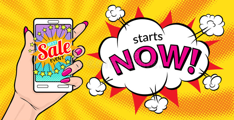 Best sale event starts now royalty free illustration