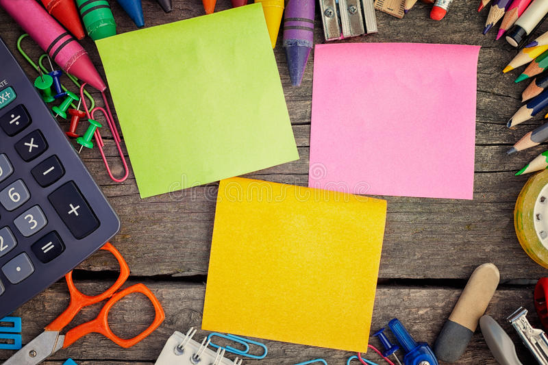 Best school supplies royalty free stock images